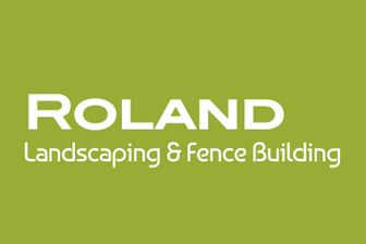 Roland Landscaping & Fence Building Logo